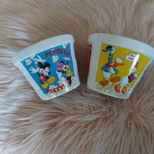 Disney Ceramic Popcorn Bowl Set